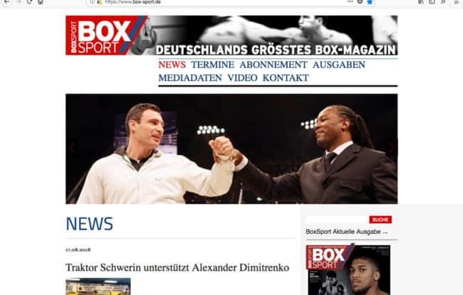 Box-Sport.de, die Internetseite von BOXSPORT, Deutschlands Boxsport-Magazin Nr. 1, beendete den Monat Juli mit einem neuen Rekord-Ergebnis in allen relevanten Bereichen.